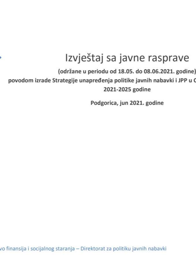 Izvještaj sa javne rasprave za Strategiju