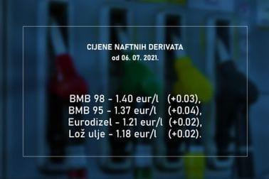 Cijene naftnih derivata 06.07.