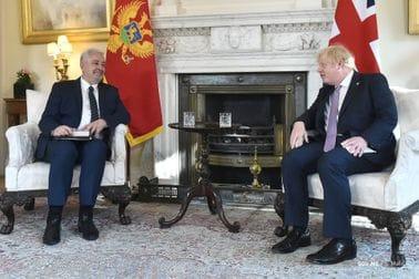 Krivokapić, Johnson: Historic meeting of PMs of Montenegro and the United Kingdom
