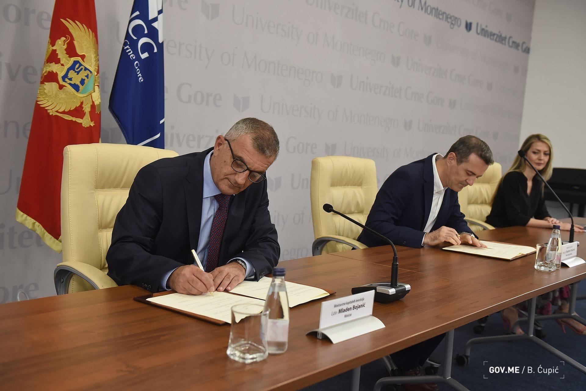 Memorandum o saradnji Univerziteta Crne Gore i Ministarstva kapitalnih investicija
