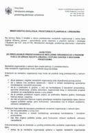 Javni poziv za predlagaje predstavnika/ce nevladine organizacije u radnom tijelu za izradu nacrta izmjena i dopuna zakona o biocidnim proizvodima