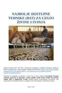 Najbolje dostupne tehnike (BAT) za uzgoj živine i svinja