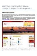 Uputstvo za elektronsko podnosenje zahtjeva za studentske kredite