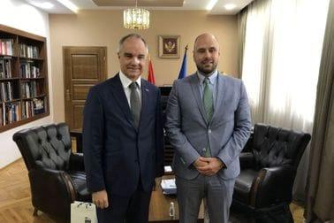 Ministar Radulović i ambasador Lundin