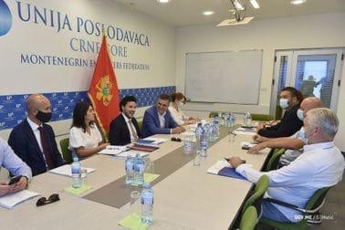 Abazović posjetio Uniju poslodavaca: Fokus javnosti da bude na biznisu