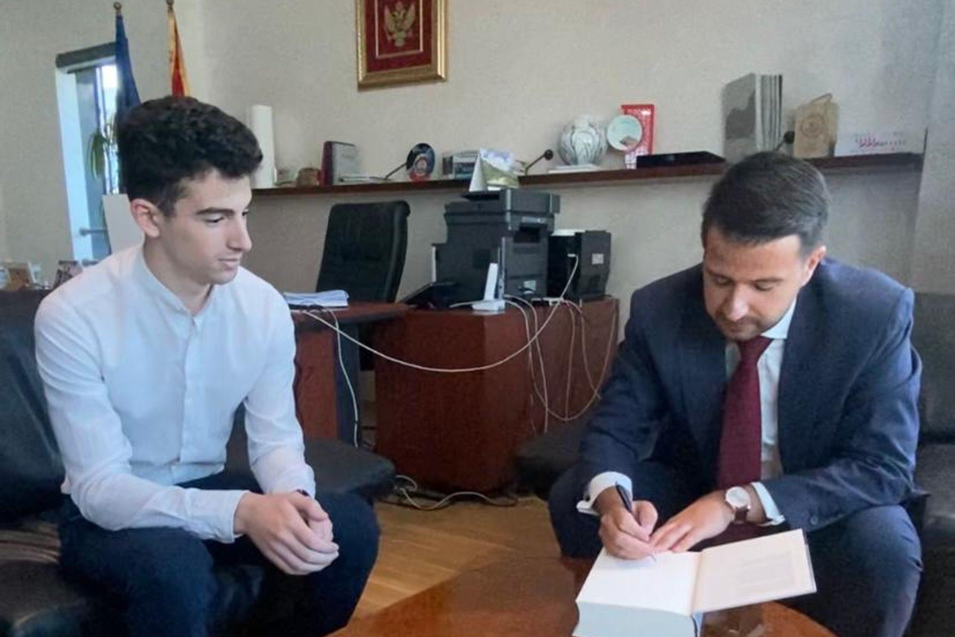 Jakov Milatović saatanak sa Matijom Delićem