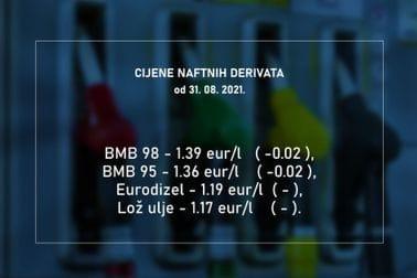 Cijene naftnih derivata 31.08.