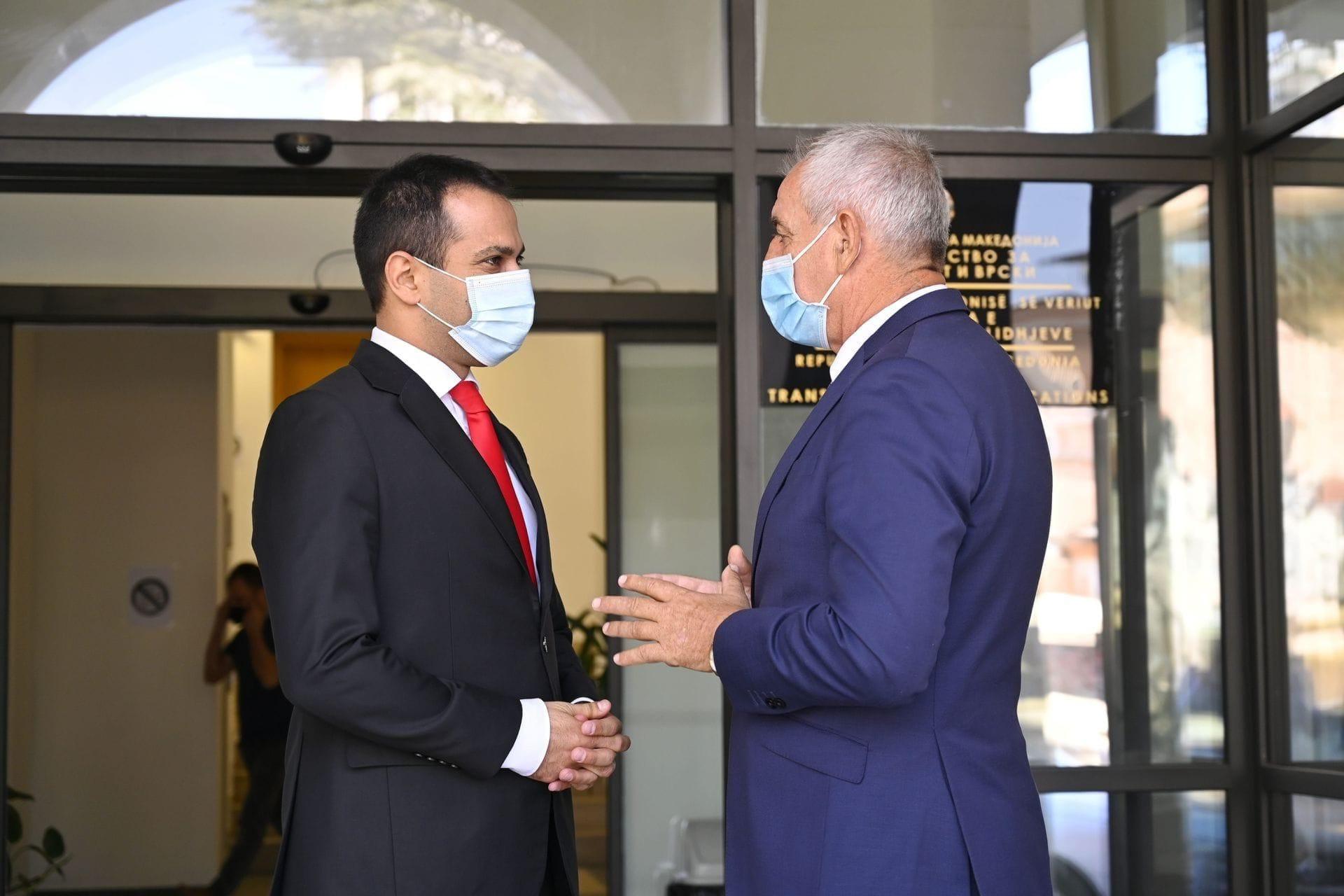 Sastanak ministra Mitrovića sa ministrom za transport i veze Republike Sjeverne Makedonije, Blagojem Bočvarskim