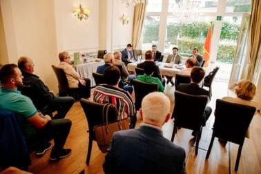Dritan Abazović - predstavnici crnogorske dijaspore u Belgiji