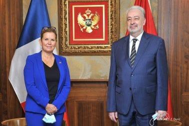 Premijer Krivokapić razgovarao sa predsjednicom Grupe prijateljstva Francuska - Zapadni Balkan