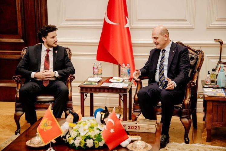 Сојлу: Абазовићев долазак у Анкару симбол пуне сарадње Турске и Црне Горе