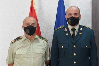NGŠ sa potpukovnicima Kneževićem i Pejovićem