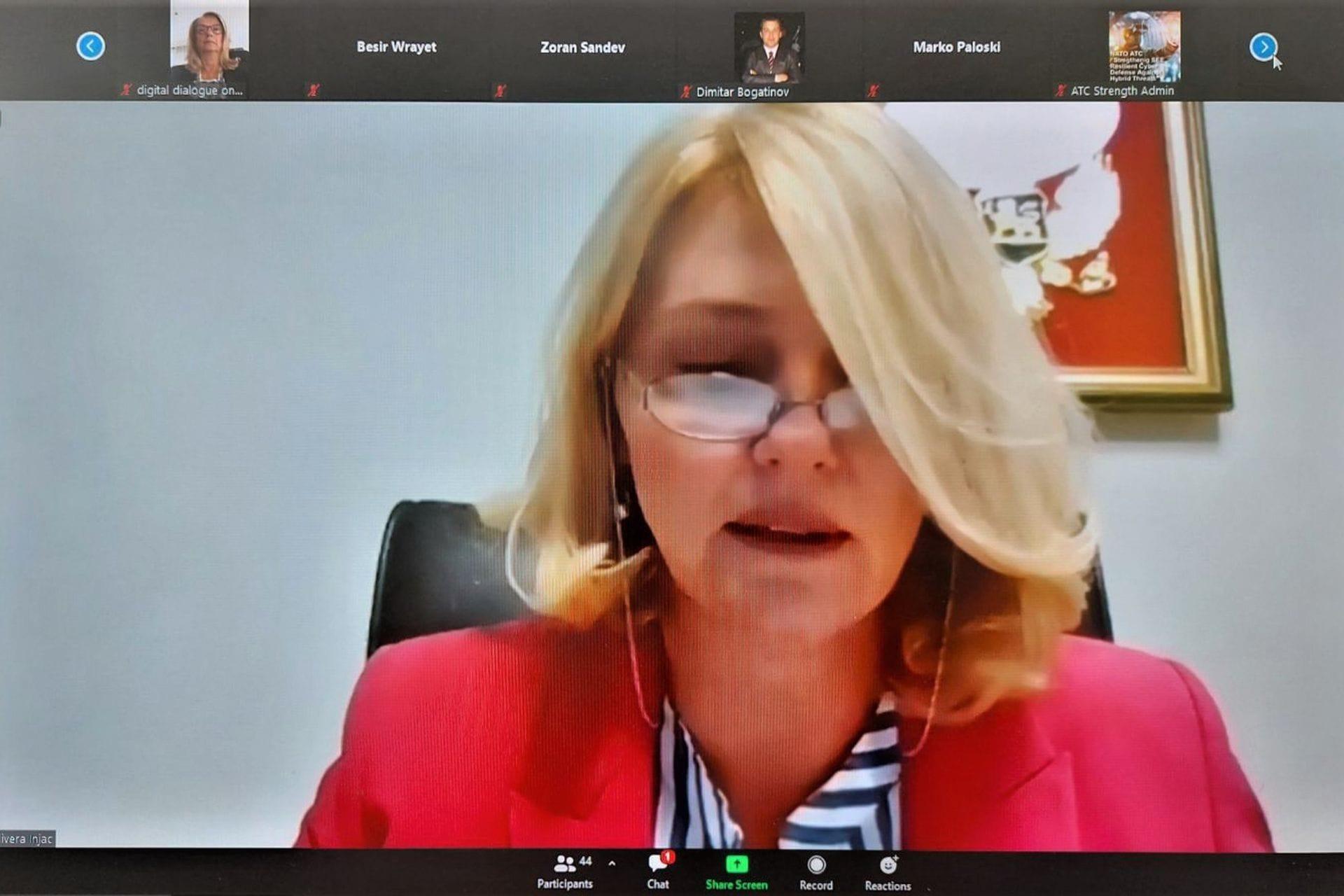 Ministarka Injac: Zajedno protiv hibridnih i sajber prijetnji u regionu