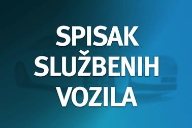 Spisak službenih vozila u posjedu Generalnog sekretarijata Vlade Crne Gore
