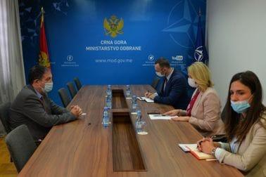 Састанак министарке одбране, др Оливере Ињац, са амбасадором Израела у Црној Гори, Њ.Е. Јахелом Виланом